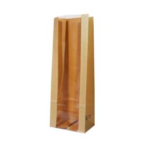 Kesa papirnata sa prozorom 120 (80)х80х300 mm kraft