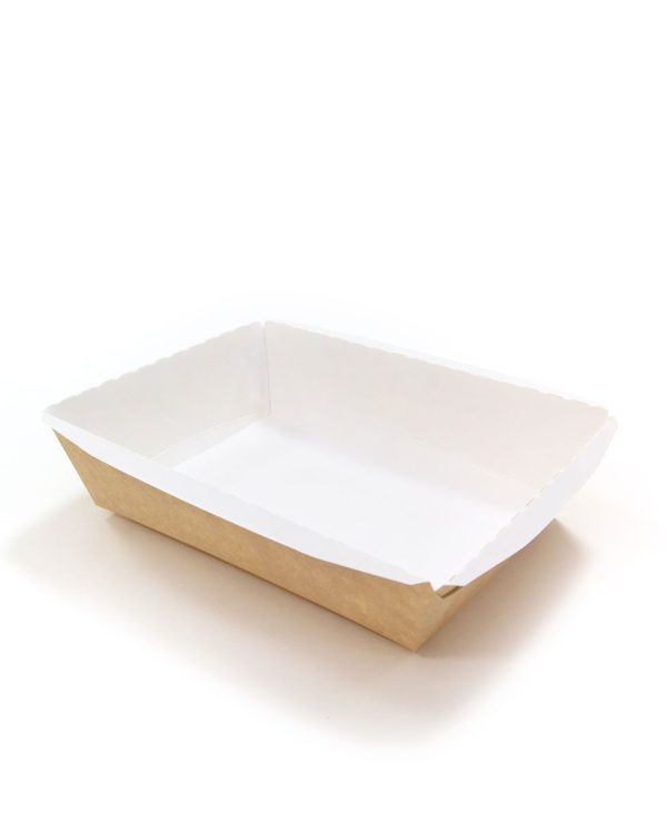 Kartonska kutija bez poklopca Crystal Box 500 ml 160x120x45 mm kraft (125 kom/pak)