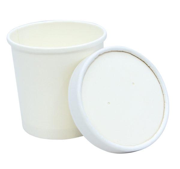 Kartonski poklopac Tambien ECO, d=90 mm, bijeli (25 kom/pak)