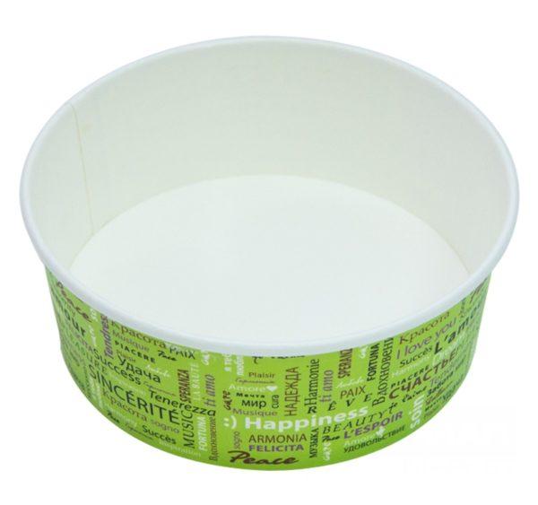 Kartonska posuda za salate sa poklopcem 750 ml d=150 mm Fiesta 100 kom (komplet)
