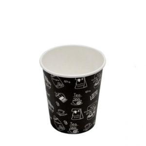 Papirna čaša 3-sl 250 ml d=80 mm Complement Black (50 kom/pak)