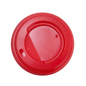 Poklopac sa bočnim otvorom, d=80 mm crven PS