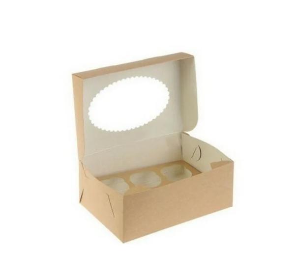 Kutija za muffin Ecomuf 250х170х100 mm kraft (150 kom/pak)
