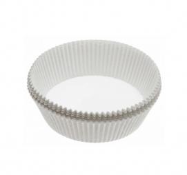 Minjoni papirne korpice za pecivo okrugli d=50 mm h=25 mm bijeli
