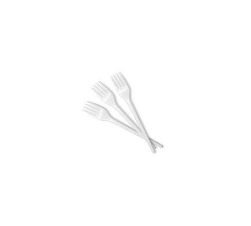 Viljuška plastična 16,5 cm bijela