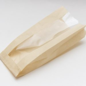 Papirna kesa sa prozorom 110(50)х40х260 mm obojena (1000 kom/pak)
