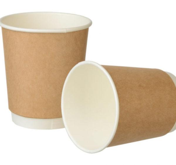 Papirna čaša 2 -sl 250 ml d=80 mm Complement kraft (24 kom/pak)