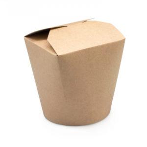 Kartonska kutija za WOK 120х92х100mm 750ml Kraft (50 kom/pak)