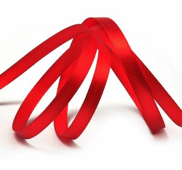 Satenska vrpca 3mm x 100 m crvena