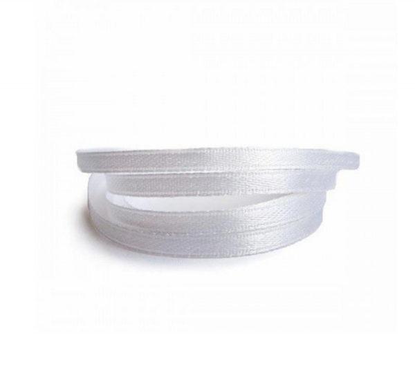 Satenska vrpca 3mm x 100 m bijela