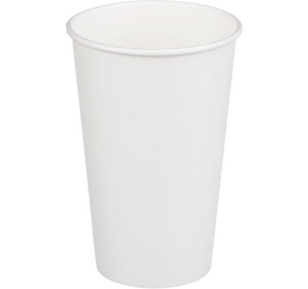 Papirna čaša 1-sl 400 ml d=90 mm bijela (50 kom/pak)