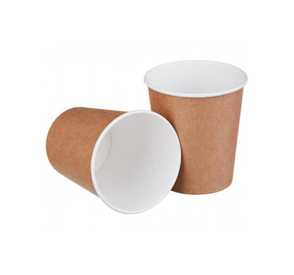 Papirna čaša 1-sl 250 ml d=80 mm kraft (50 kom/pak)