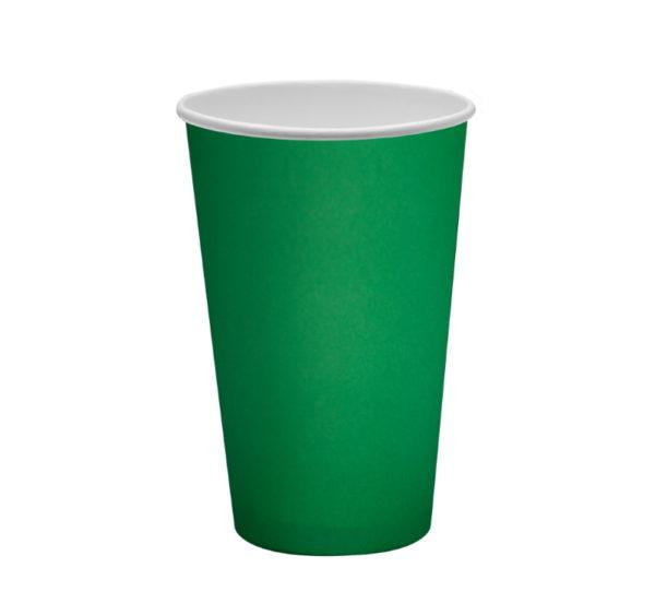 Papirna čaša 1-sl 400 ml d=90 mm zelena (50 kom/pak)