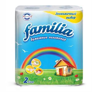 Papirni ubrusi 2-sl 2role/paket Familia Rainbow bijela (50455)
