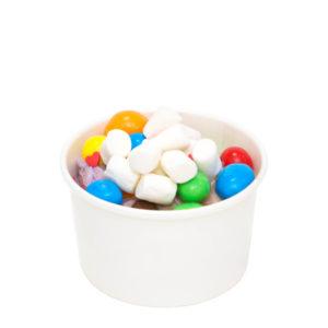 Kartonska posuda Comlement 125 ml d=75 mm bijela (50 kom/pak)